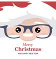 christmas card brochure santa claus face vector image vector image