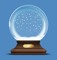 christmas empty snow globe toy vector image