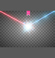collision of two forces with red and blue light vector image