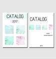 cover design template catalog report brochure vector image vector image