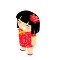 cute girl isometric traditional wear costume vector image vector image