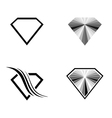 Diamond Logo Design Collection vector image vector image