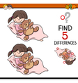 differences task coloring page vector image vector image