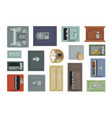different types safes set property security vector image