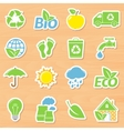 Eco Stickers Set vector image vector image