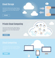 Element of computer cloud concept icon in flat vector image