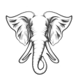 Elephant Head in Engraving style vector image vector image