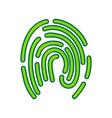 fingerprint sign lemon vector image