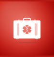 first aid box and emergency - star of life icon vector image vector image