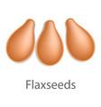 flaxseeds mockup realistic style vector image