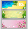 floral discount coupon paper cut templates vector image
