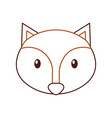 forest fox animal wildlife nature fauna vector image