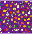 fresh summer color fruits seamless pattern vector image vector image
