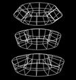 generic 3d models abstract wire-frame polygonal vector image