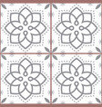 geometric azulejo tile seamless pattern vector image