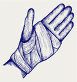 Hand tied elastic bandage vector image vector image