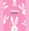 happy easter card bunny ears vector image vector image
