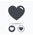 Heart icon Romantic love sign vector image vector image