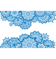 Horizontal Border of white round ornaments vector image vector image