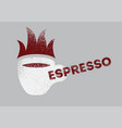 hot espresso coffee vintage style grunge poster vector image