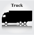 icon truck on a gray background vector image vector image