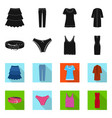 isolated object woman and clothing sign set of vector image vector image