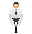Leggy Office man vector image vector image