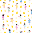 Little princesses pattern vector image vector image