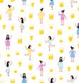 Little princesses pattern vector image