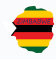Map of zimbabwe with the image of the national