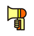 megaphone icon isolated on white background from vector image vector image