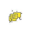 messages icon design vector image