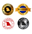 missouri badges gold stamp rubber band circle vector image vector image