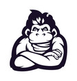 monkey mascot logo silhouette version primate vector image vector image