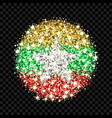 myanmar flag sparkling badge vector image