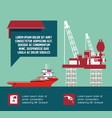 oil industry infographic template vector image vector image