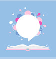 open book with space for quote or phrase vector image