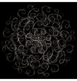 Ornamental round floral pattern vector image vector image