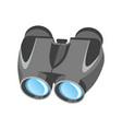 pair modern binoculars with powerful zoom in vector image