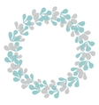 Pastel laurel wreath decorative frame isolated vector image
