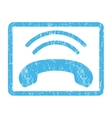 Phone Ring Icon Rubber Stamp vector image vector image