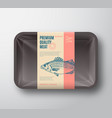 premium quality sea bass pack abstract vector image vector image