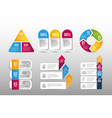 set business infographic data strategy plan vector image