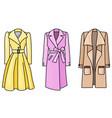 set of hand drawn women clothes coats vector image vector image