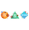 set with abstract elements in retro style vector image vector image