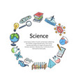 sketched science or chemistry vector image vector image