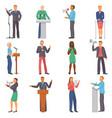 speaker people characters speaking at vector image