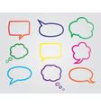 speech bubbles b vector image