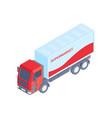 supermarket truck icon vector image