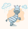teddy zebra - cute animal characters vector image